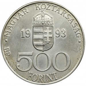 Węgry, 500 Forintów 1993 - Europejska Unia Walutowa ECU