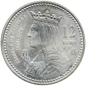 Hiszpania, Jan Karol I, 12 Euro 2004 - Izabela Kastylijska