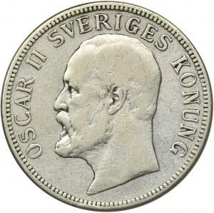 Szwecja, Oskar II, 2 Korony Sztokholm 1876