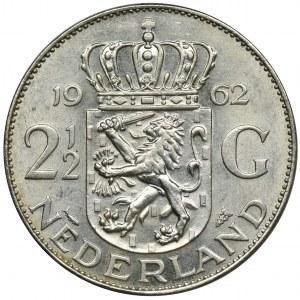 Niderlandy, Królestwo Niderlandów, Juliana, 2 1/2 Guldena 1962