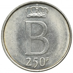 Belgia, Baldwin I, 250 Franków Bruksela 1976