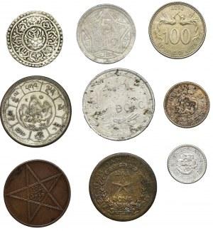 Zestaw, Mix monet azjatyckich - Tybet, Wietnam i Korea (9 szt.)