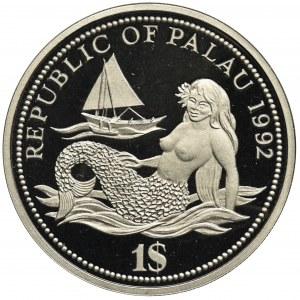 Palau, 1 Dolar 1992 - Rok Ochrony Życia Wodnego