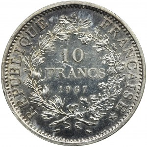 Francja, V Republika, 10 Franków Paryż 1967