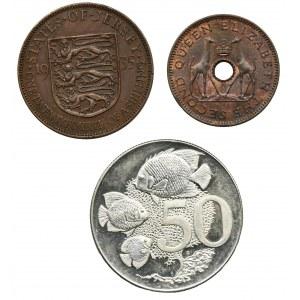 Zestaw, Mix monet z kolonii brytyjskich (3 szt.)