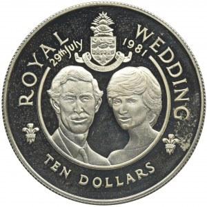 Kajmany, 10 Dolarów 1981