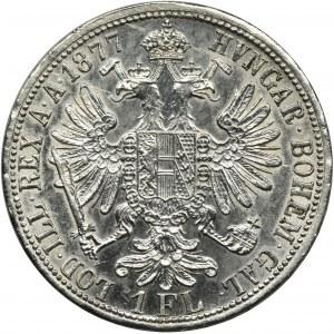 Austria, Franciszek Józef I, 1 Floren Wiedeń 1877
