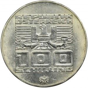 Austria, 100 Szylingów 1974 - XII Zimowe Igrzyska Olimpijskie w Innsbrucku