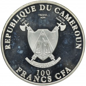Kamerun, 100 Franków 2011 - Samochód Carla Benza