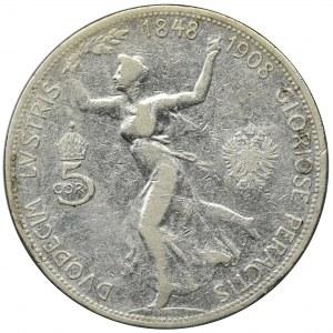Austria, Franz Joseph I, 5 Korona Wien 1908