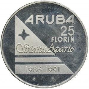 Niderlandy kolonie, Aruba, Beatrix, 25 Florenów 1991 - Status Aparte