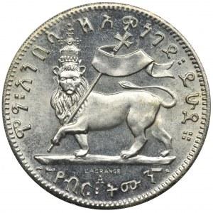 Etiopia, Manelik II, 1/8 Birr 1895