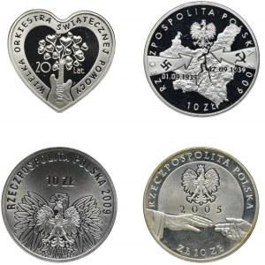 Zestaw, 10 złoty - Monety kolekcjonerskie (4 szt.)