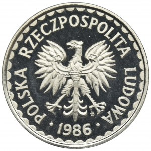 1 złoty 1986 - stempel lustrzany