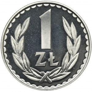 1 złoty 1982 - stempel lustrzany