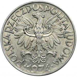 5 złotych 1974 Rybak - płaska data