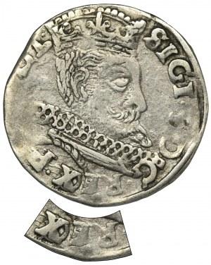 Zygmunt III Waza, Trojak Wschowa 1598 - RZADKI, przebitka REX