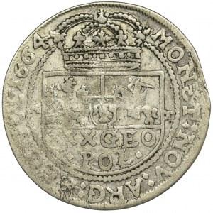 John II Casimir, Tymf Bromberg 1664 AT - GEO, VERY RARE
