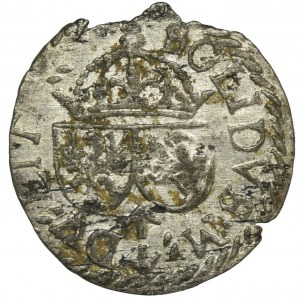 Zygmunt III Waza, Szeląg Wilno 1614 - RZADSZY, odwrócone E w REX