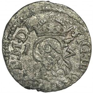 Zygmunt III Waza, Szeląg Wilno 1617 - RZADSZY, tarcze wygięte