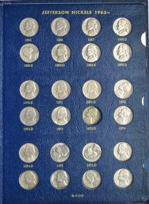Zestaw 5 centówek USA (42 szt.) - srebro