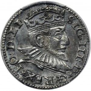 Zygmunt III Waza, Trojak Ryga 1592 - LI - PCGS UNC Detail