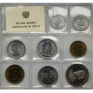 Zestaw, PRL, Polskie Monety Emitowane w 1977 roku (8 szt.)