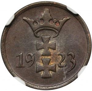 Wolne Miasto Gdańsk, 1 fenig 1923 - NGC MS64 BN