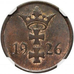 Free city of Danzig, 1 pfennig 1926 - NGC MS64 BN