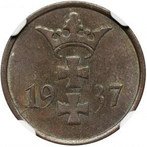 Wolne Miasto Gdańsk, 1 fenig 1937 - NGC MS63 BN