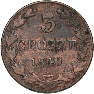 3 grosze Warszawa 1840 MW