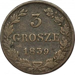 3 grosze Warszawa 1839 MW