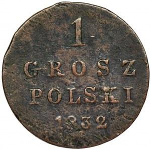 Królestwo Polskie, 1 grosz polski Warszawa 1832 KG