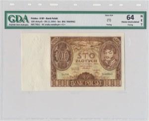 100 złotych 1934 - Ser.BM znw.+X+ - GDA 64 NET