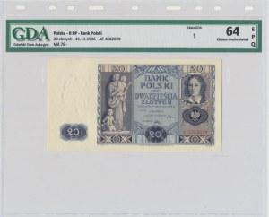 20 złotych 1936 - AE - GDA 64 EPQ
