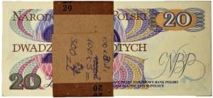 Paczka bankowa 20 złotych 1982 - AU - (100 szt.)