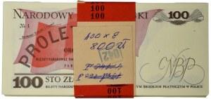 Paczka bankowa 100 złotych 1986 - SB - (100 szt.)