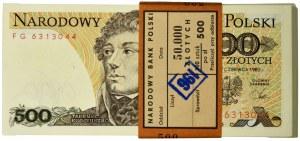 Paczka Bankowa 500 złotych 1982 - FG - (100 szt.)