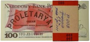 Paczka bankowa 100 złotych 1986 - SG - (100 szt.)