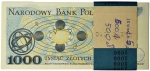 Paczka bankowa 1.000 złotych 1982 - HA - (100 szt.)