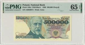 500.000 złotych 1990 - A - PMG 65 EPQ - RZADKA