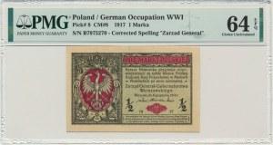 1/2 marki 1916 Generał - PMG 64 EPQ