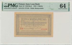 1 marka 1919 - ICN - PMG 64