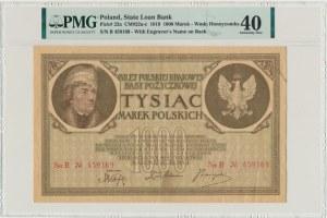 1.000 marek 1919 - 2 x Ser. B - PMG 40 - RZADKA