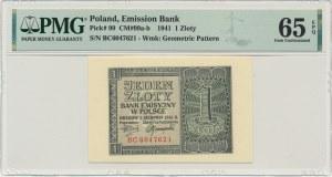 1 złoty 1941 - BC - PMG 65 EPQ