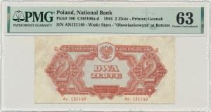 2 złote 1944 ...owym - An - PMG 63