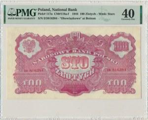 100 złotych 1944 ...owe - EO - PMG 40