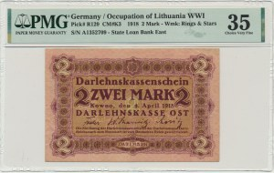 Kowno, 2 mark 1918 - A - PMG 35 - RARE