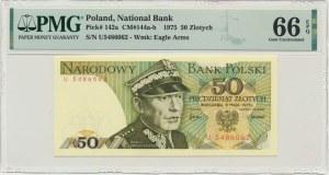 50 złotych 1975 - U - PMG 66 EPQ
