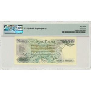 5.000 złotych 1986 - AY - PMG 67 EPQ - pierwsza seria rocznika